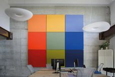 LED-integrated acoustic panels by Caruso