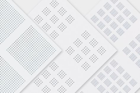 Three new Gyptone boards have been added to Gyprock's perforated plasterboard range.