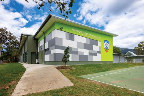 Architecture firm Clarke and Prince specified Cemintel's Surround for this school in Gordonvale, Queensland. Photography: Brad Newton.