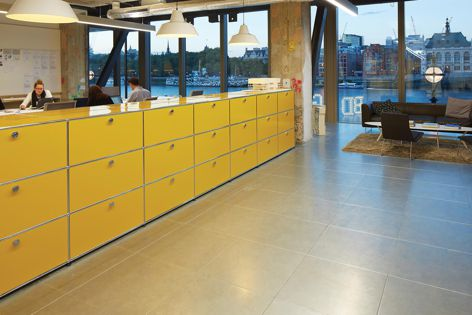 The USM Haller storage system is a versatile solution for the contemporary workplace.