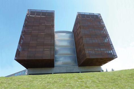 Aa facade using ETFE foil.