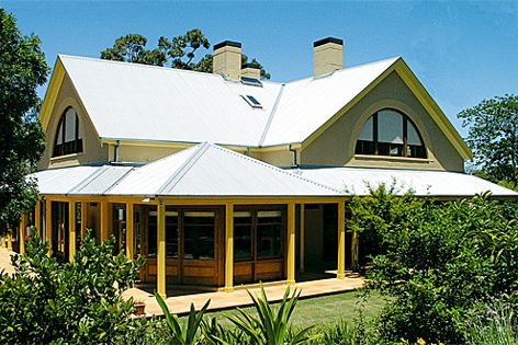 Blockout roller shutters can be matched to the house's exterior colour scheme.