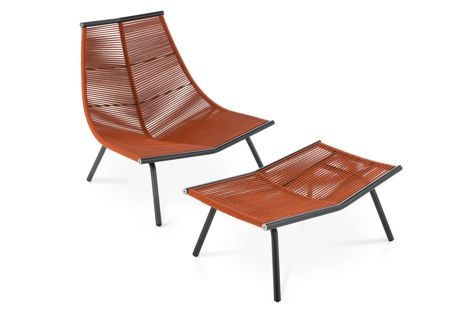 Laze 002 lounge chair and footstool by Roda