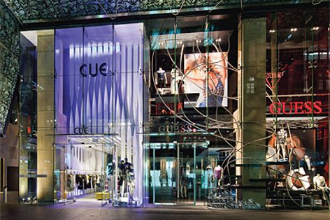 Di Emme Creative Solutions has created store designs for Guess and Cue retail stores.