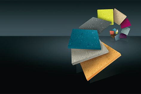Norament 926 satura rubber floor covering is available in 32 colours.