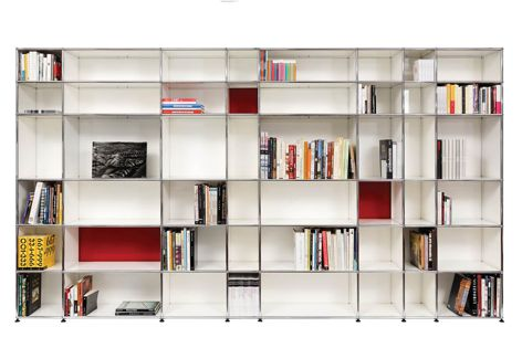 Design personalized wall units, bookshelves and storage solutions for the home and office with USM modular furniture.