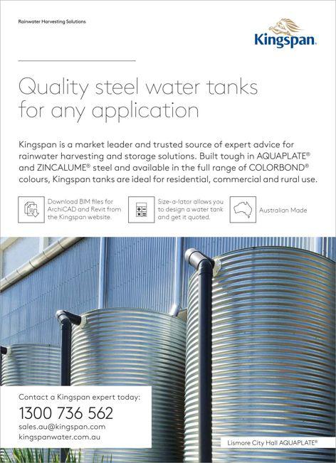 Steel water tanks from Kingspan Water