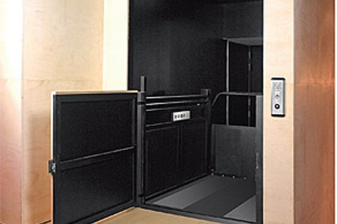 One momentary touch of a button activates many functions of the Eurostar lift by Master Lifts.